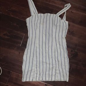 Forever 21 body con striped linen dress